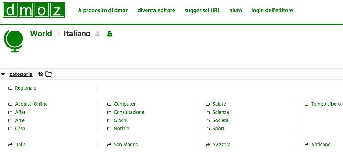 web directory dmoz